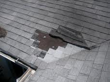 Roof with shingle missing